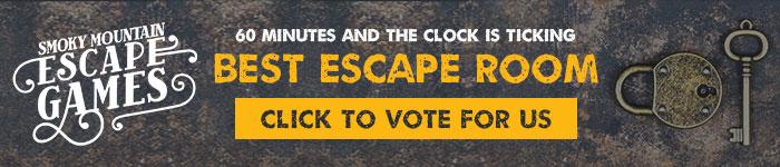 Ad: Click to vote for Smoky Mountain Escape Games