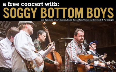 Free Concert: Soggy Bottom Boys: Click for event info.
