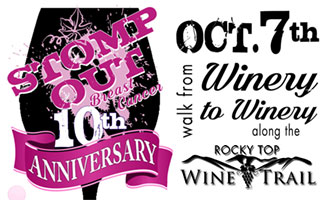 STOMP OUT! Breast Cancer Along The Rocky Top Wine Trail: Click to read more.