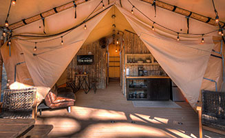 Click to view post: Smoky Mountain Glamping At The Ridge Outdoor Resort