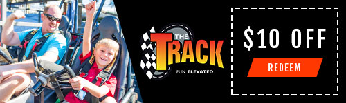 Ad - The Track: Click for $10 coupon.