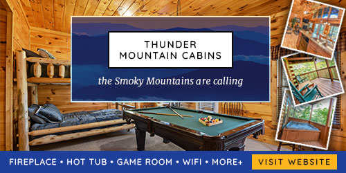 Ad - Thunder Mountain Cabins: Click to visit website