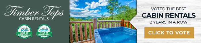 Ad: Click to vote for Timber Tops Cabin Rentals