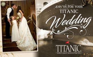 Get Married At Pigeon Forge's Titanic Museum: Click to read more.
