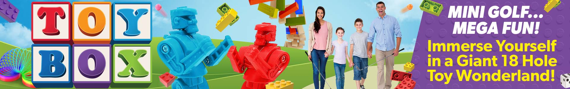 Ad - Toy Box Mini Golf: Click to visit website.