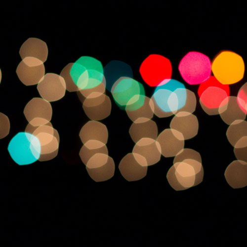 Bokeh holiday lights