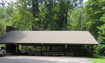 View of Twin Creeks Picnic Pavilion