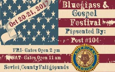 1st Annual Veterans Bluegrass & Gospel Festival: Click for event info.