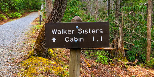 Walker Sisters Cabin: Click to visit page.