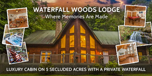 Ad - Waterfall Woods Lodge: Click for website