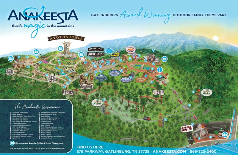Anakeesta park map